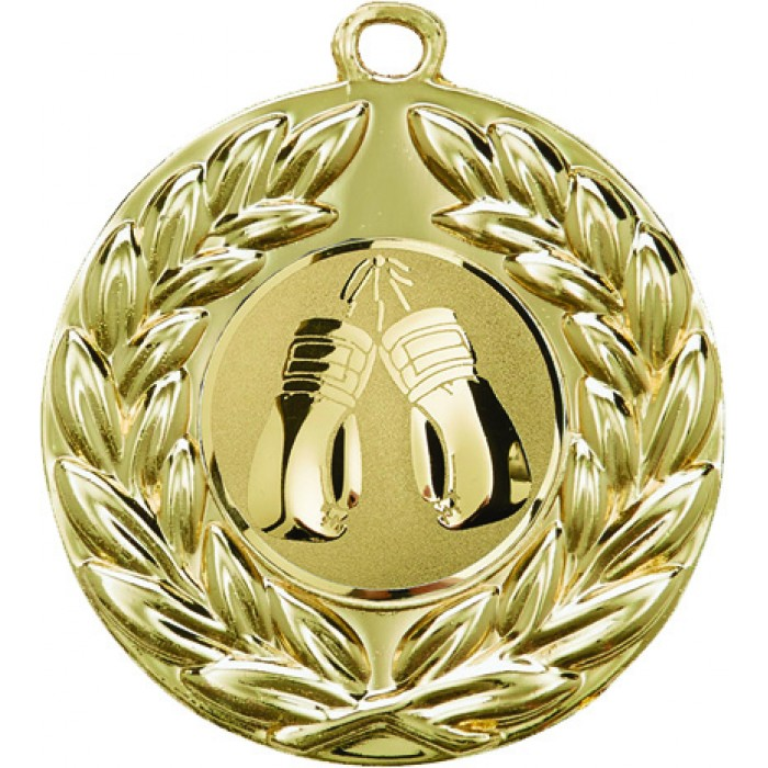 GOLD 50MM BOXING MEDAL